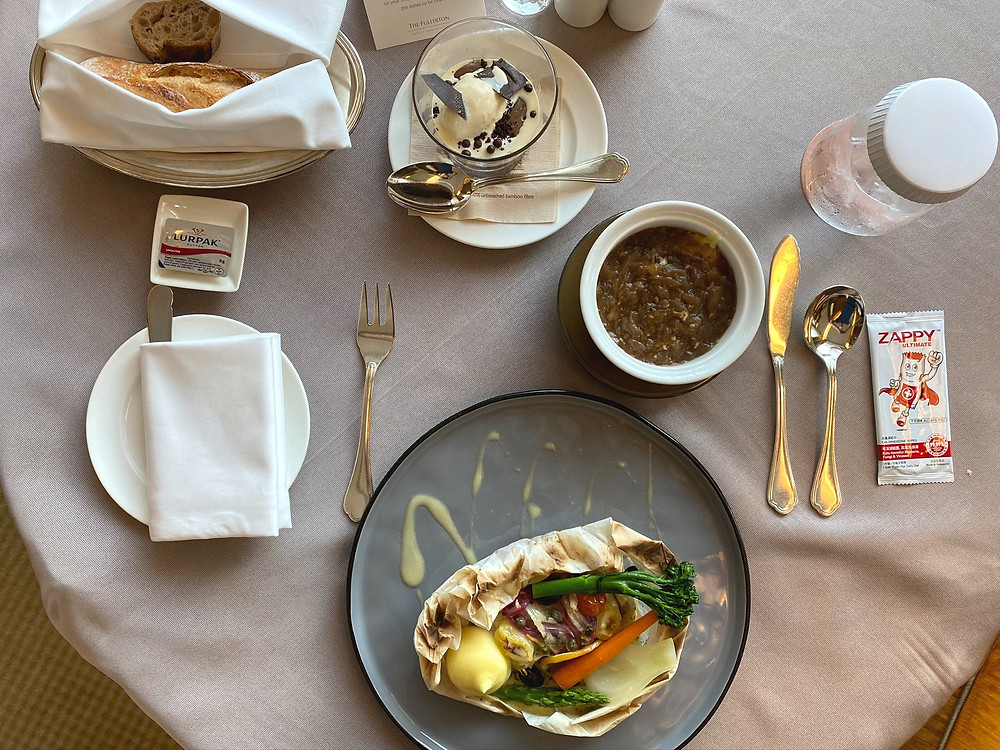 The Fullerton Bay Hotel Room Service - What's for lunch