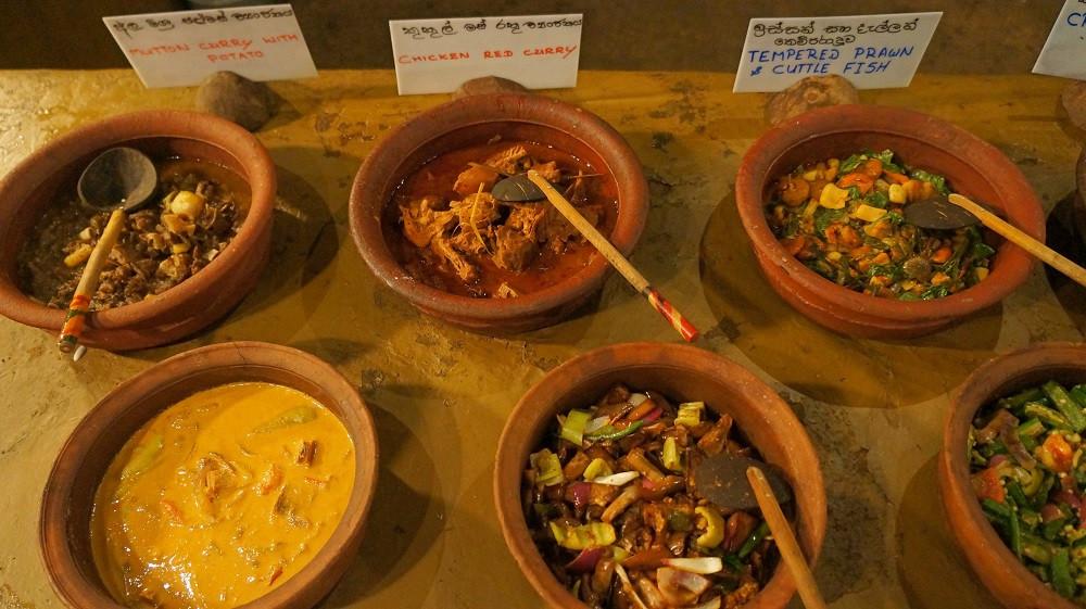 Selection of curries at Nuga Gama