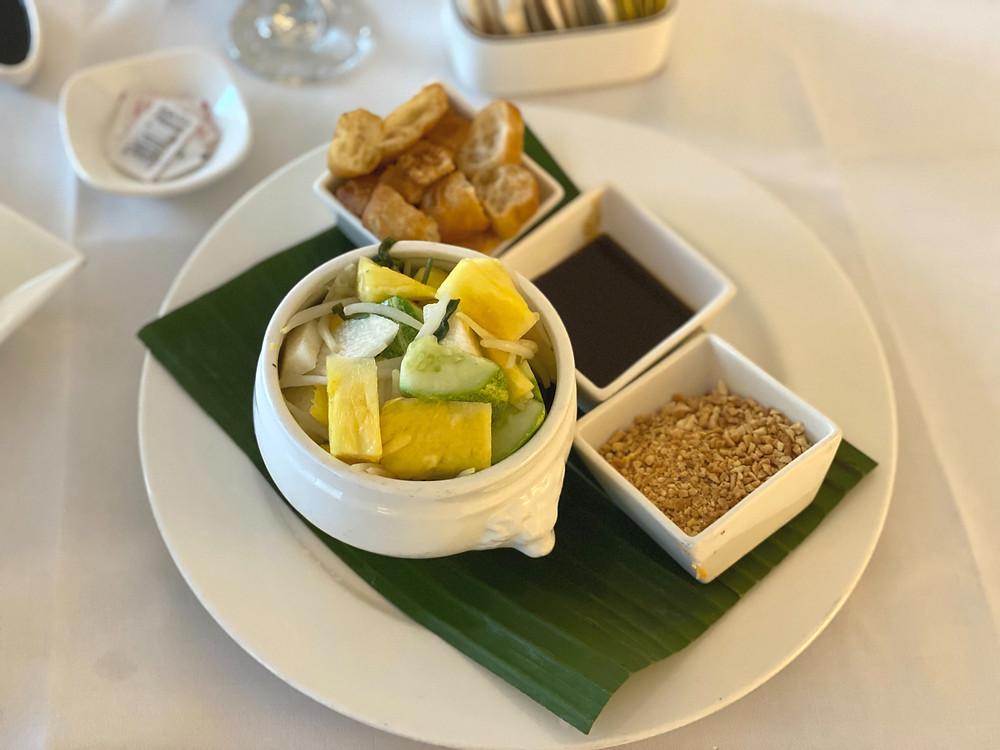 Fairmont Singapore Room Service - A generous portion of rojak for dessert