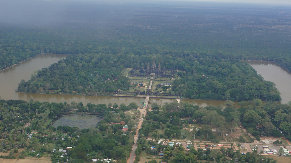 Seeing Angkor Wat from above