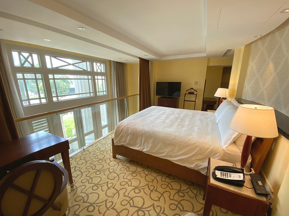 Another view of the second-level bedroom of the Loft Suite