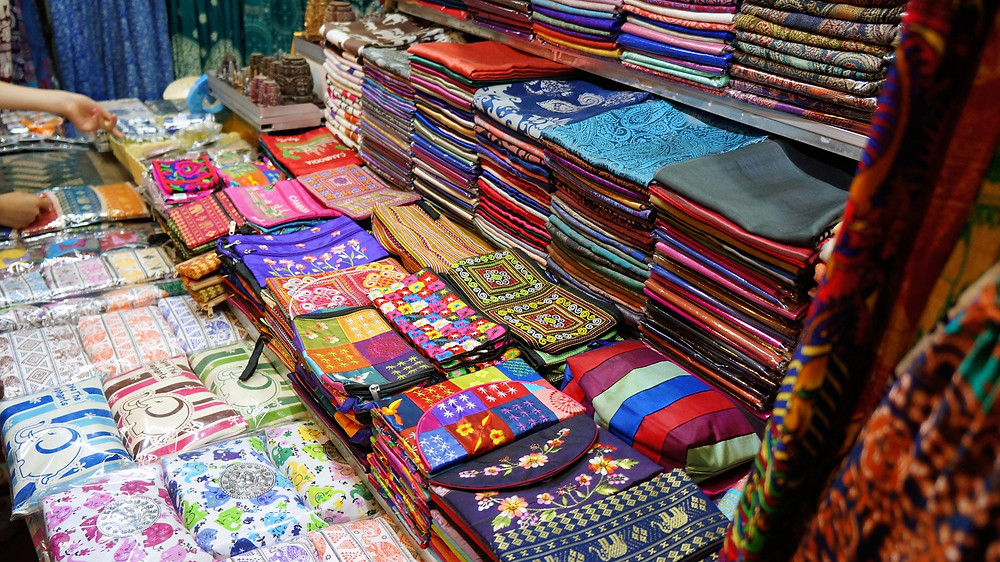 Different types of products for sale at Psar Chas