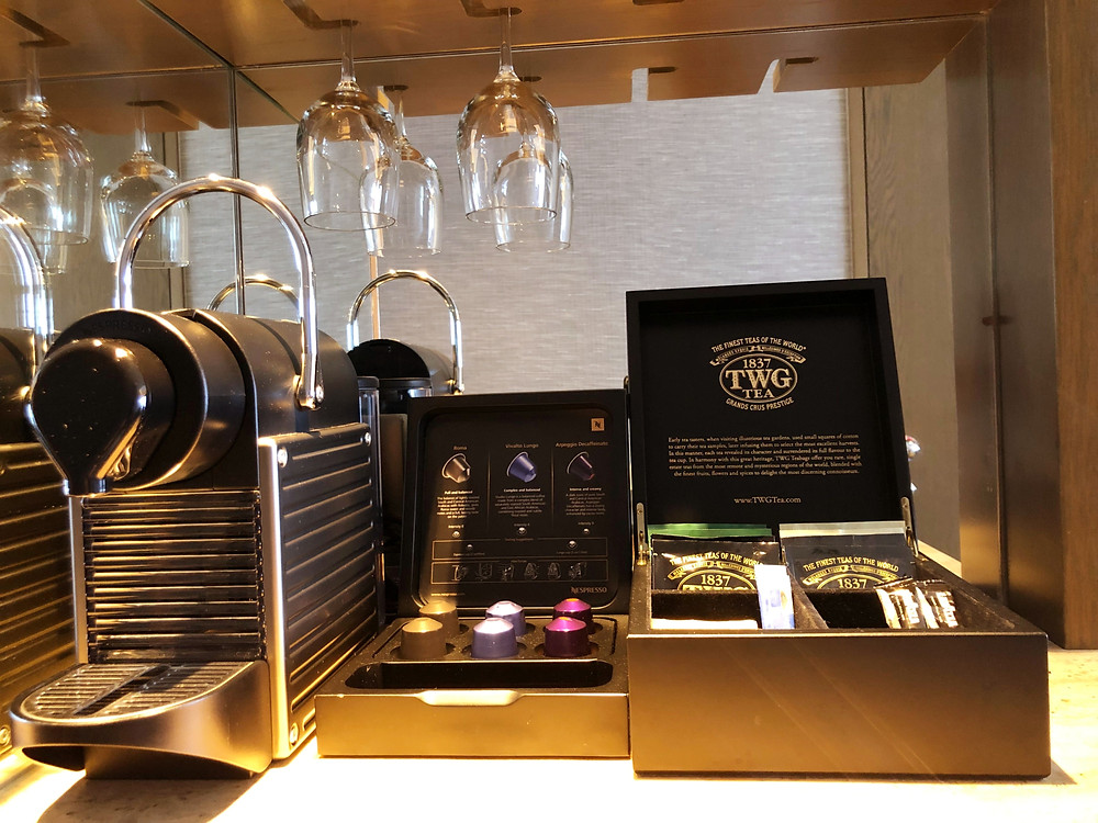 Pacific Skyline Suite - Nespresso coffee capsules and TWG tea bags for guests' use