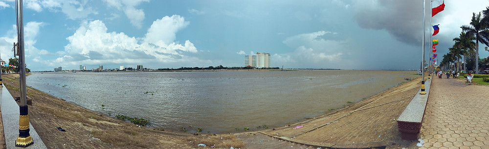 Sisowath Quay stretches really long alongside Tonle Sap