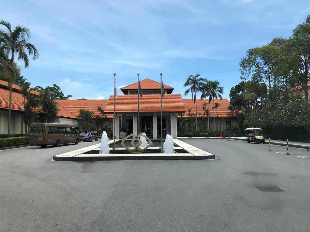Entrance of Sofitel Singapore Sentosa Resort & Spa
