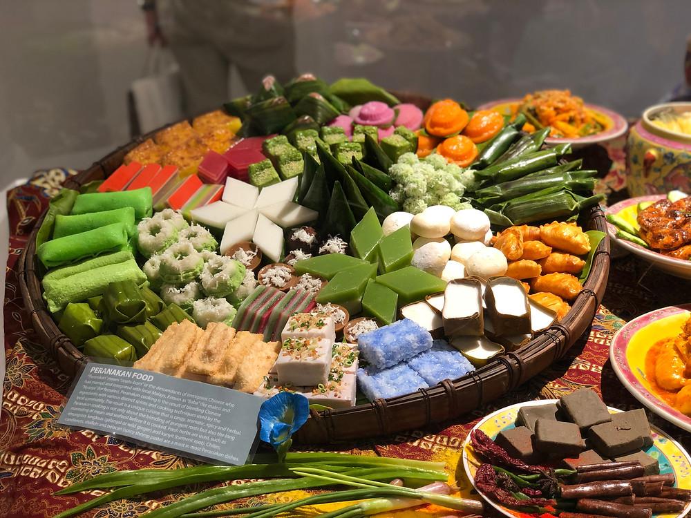 Peranakan food on display at Wonder Food Museum