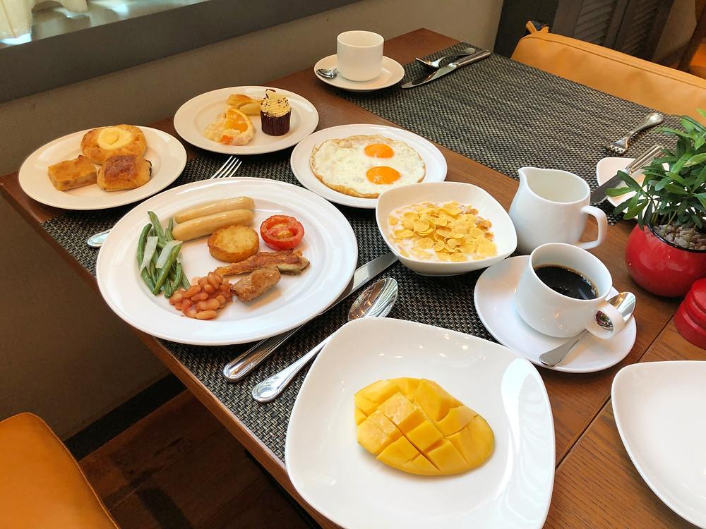 My breakfast for the day at Sofitel Saigon Plaza's Mezz Restaurant