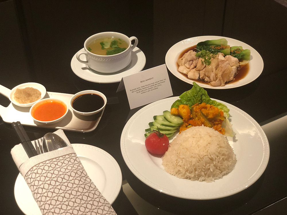 Sofitel Singapore City Centre Room Service - The Hainanese Chicken Rice. They did Singapore proud!