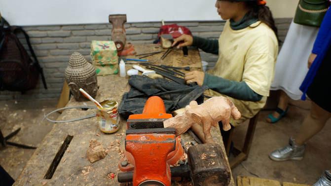 Behind the scenes at Artisans d'Angkor Workshop