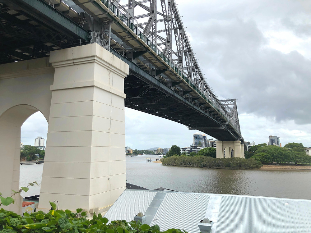 The Fantauzzo Brisbane Deluxe Riverview Balcony Room - View of Story Bridge from the balcony