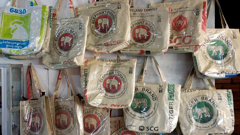Merchandise for sale at Angkor Handicraft Association