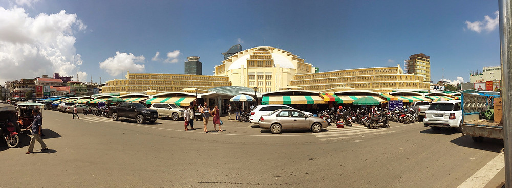 Central Market in downtown Phnom Penh
