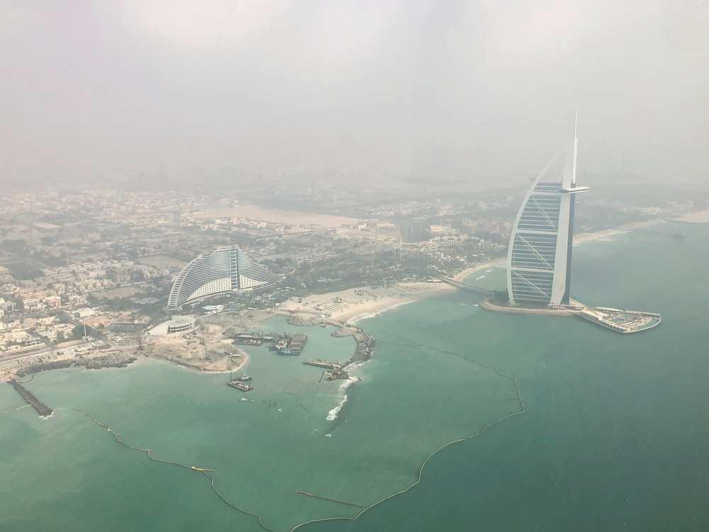 Seeing Burj Al Arab one more time before we headed back to Dubai Police Academy