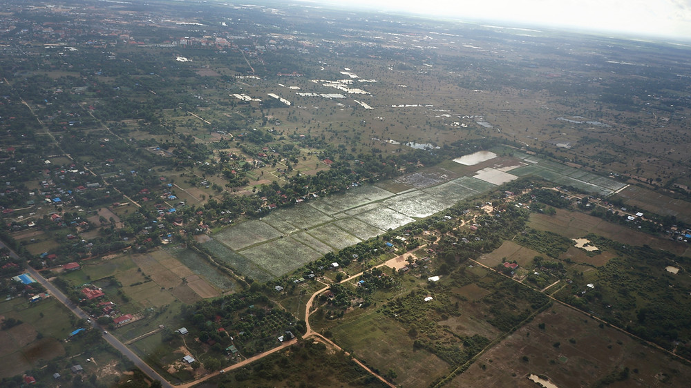 Looking at the beauty of Siem Reap from above