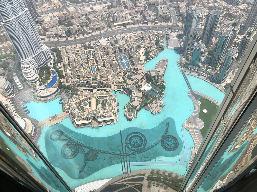 View of The Dubai Mall and Souk Al Bahar from AT.MOSPHERE