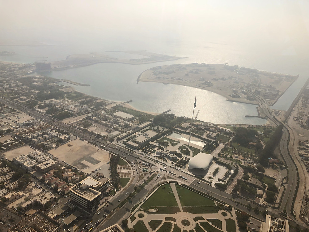 Flying over Etihad Museum and Union House