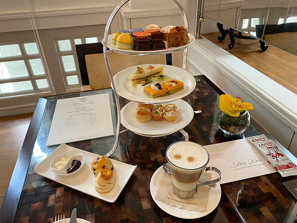 Afternoon tea at The Straits Club