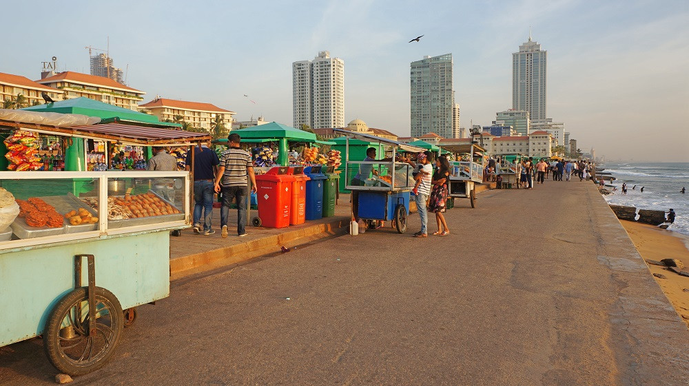 Street food vendors at Galle Face Green Promenade