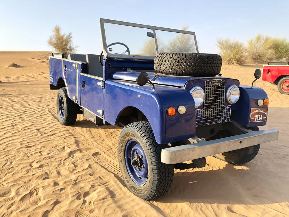 The jeep is available for those who wish to travel like the Queen