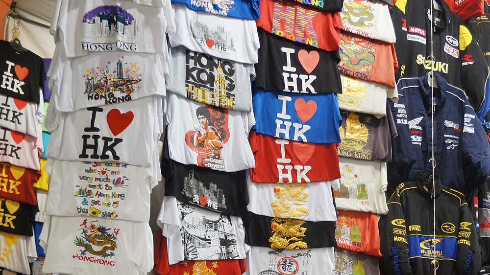 The must-have t-shirts on sale at Ladies Market