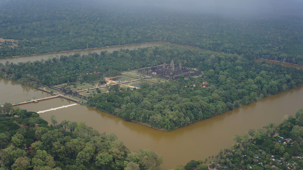 One of the best ways to see Angkor Wat: Fly around it!