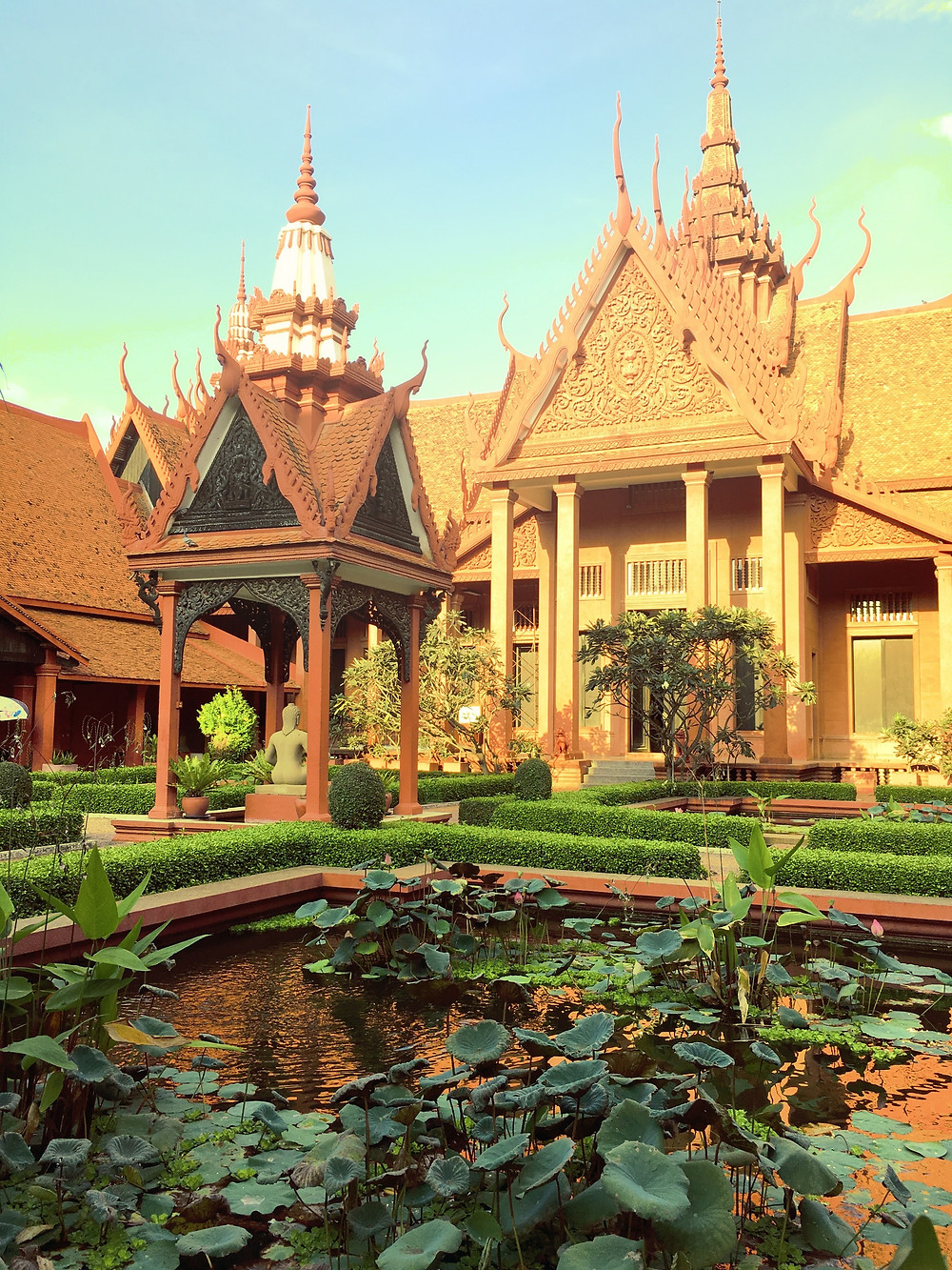 Within the grounds of the National Museum of Cambodia