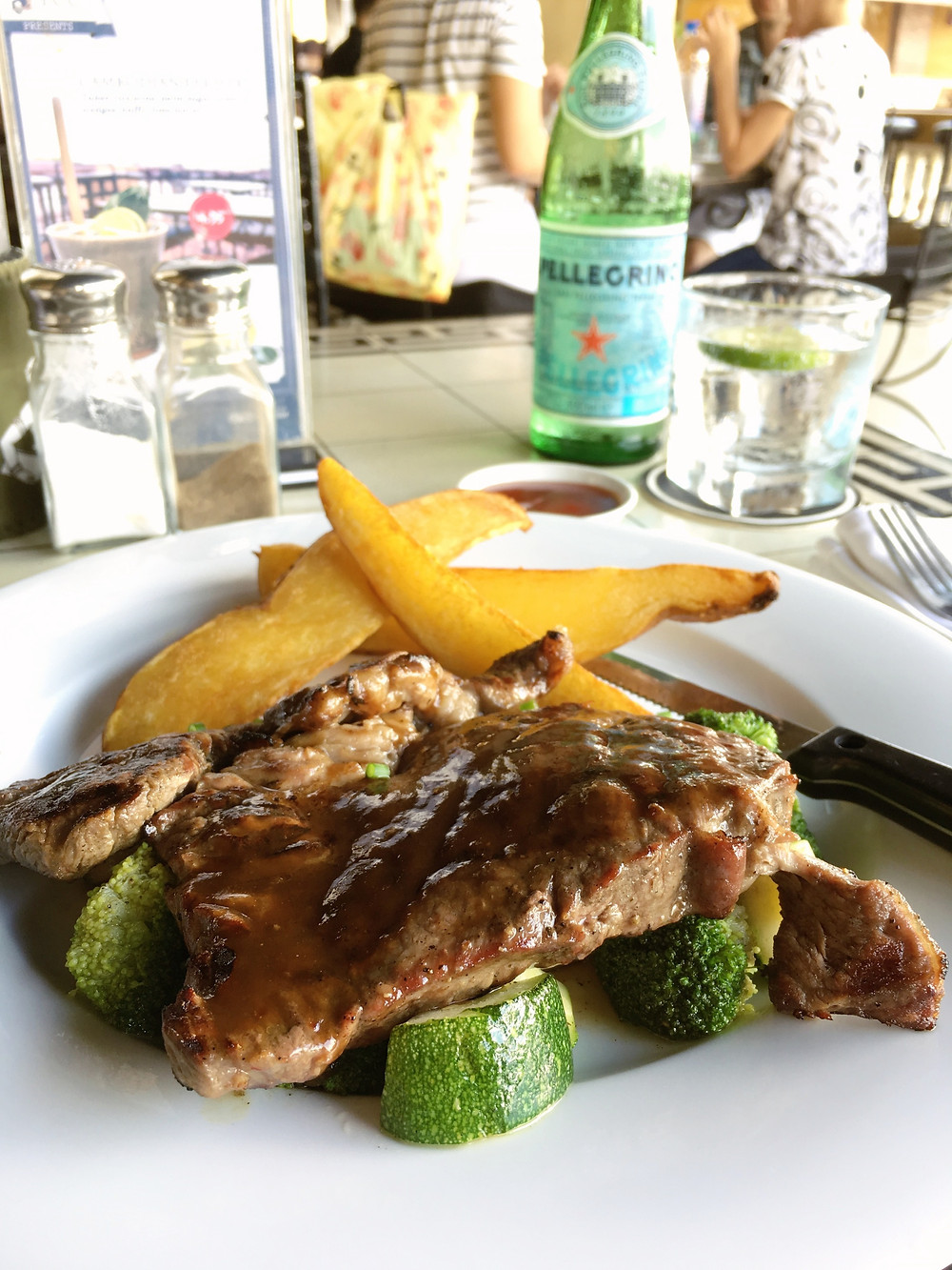 A delicious plate of steak served at FCC Phnom Penh