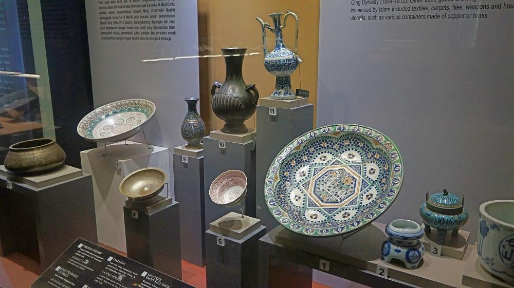 Historic artefacts on display at Muzium Negara
