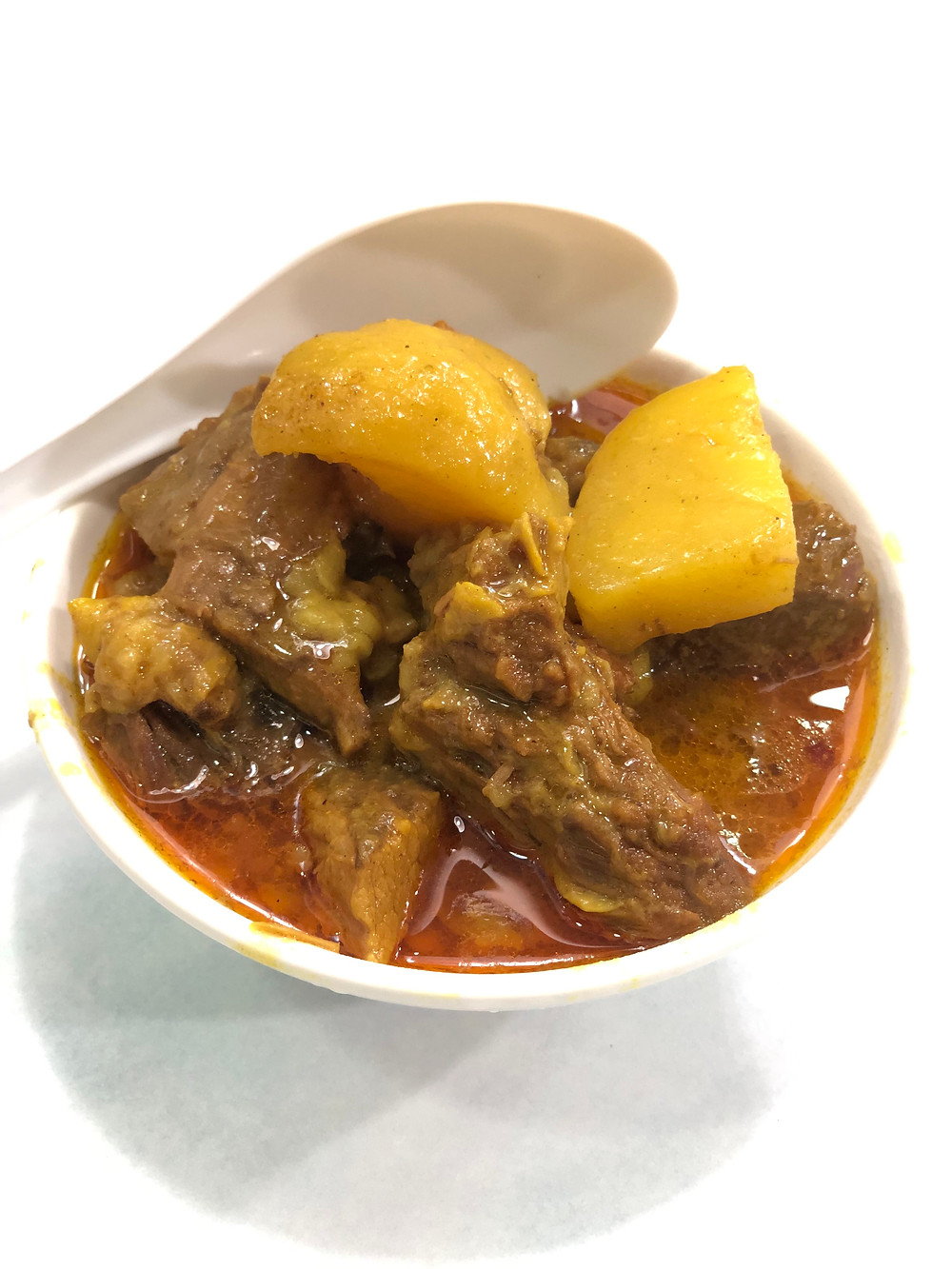 A delicious bowl of curry beef brisket at Sister Wah Beef Brisket