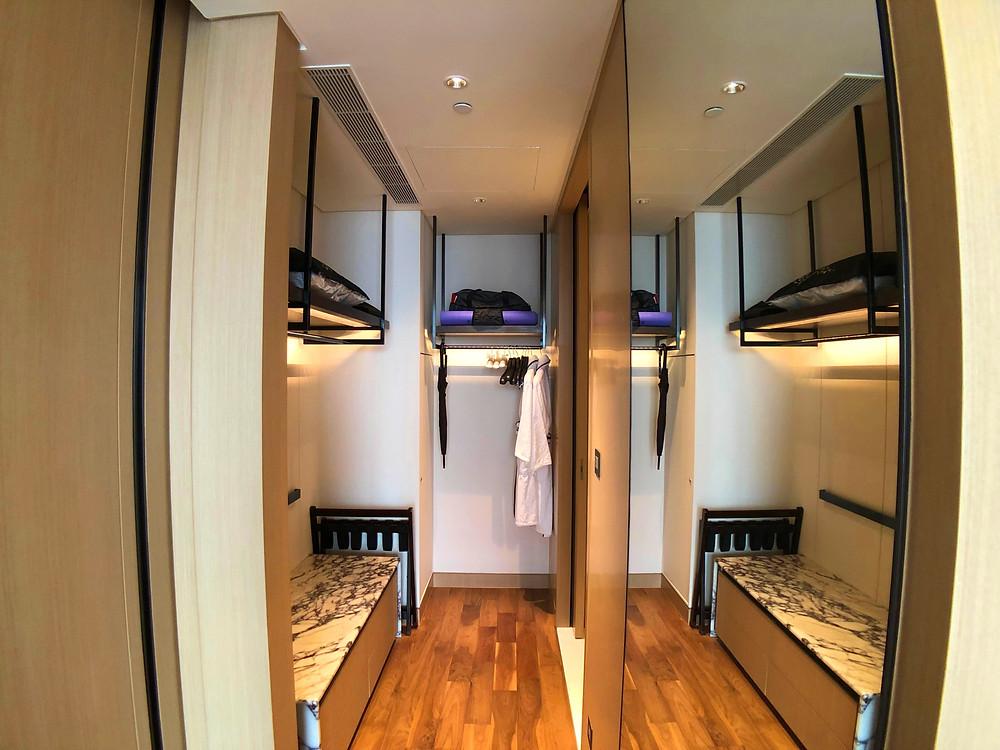 Prestige Suite - The walk-in wardrobe