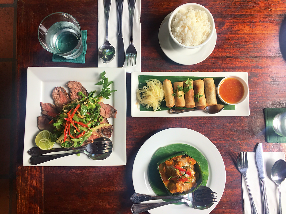 A delicious lunch at Romdeng Restaurant