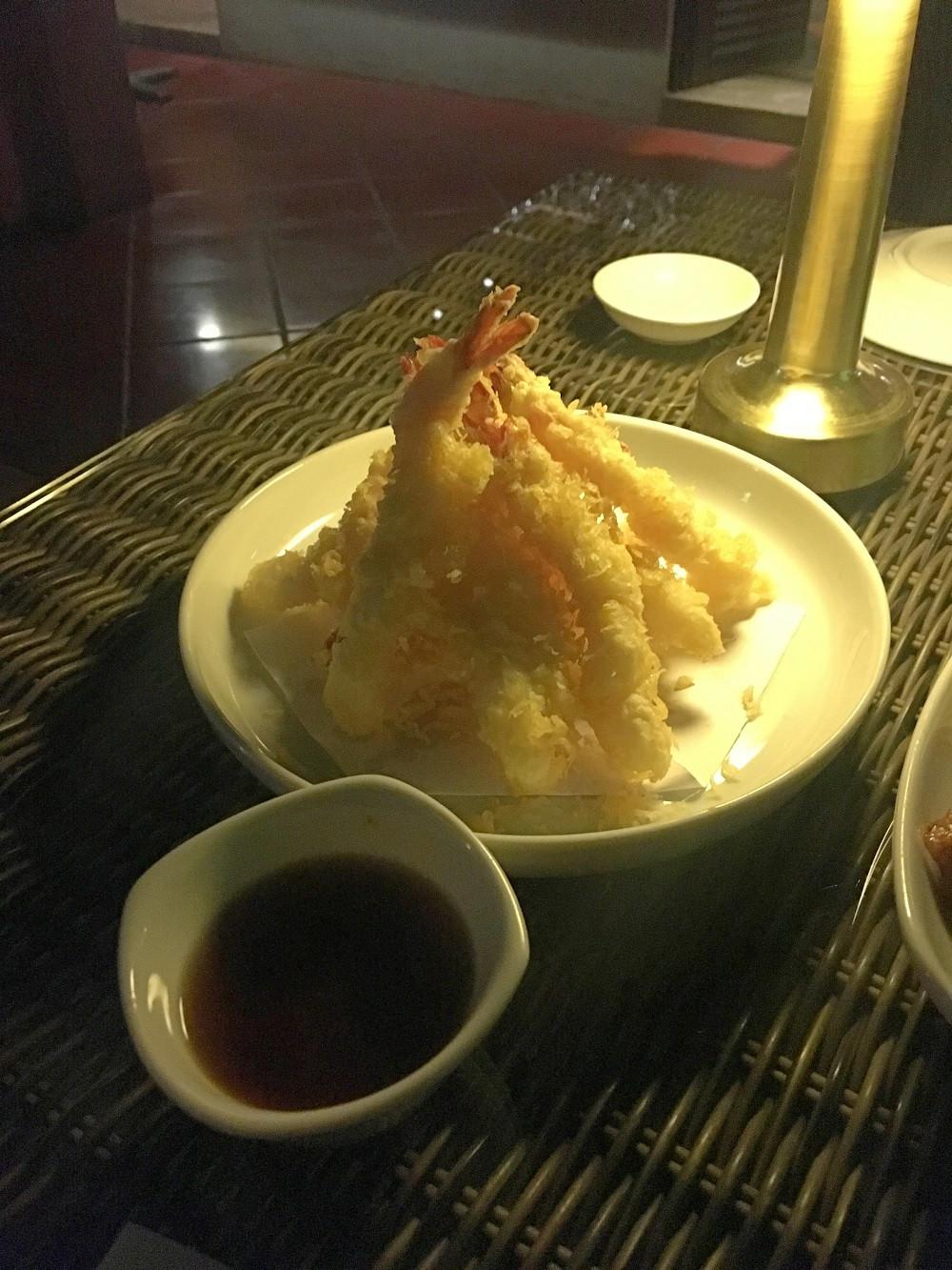 Prawn tempura at Zen Restaurant