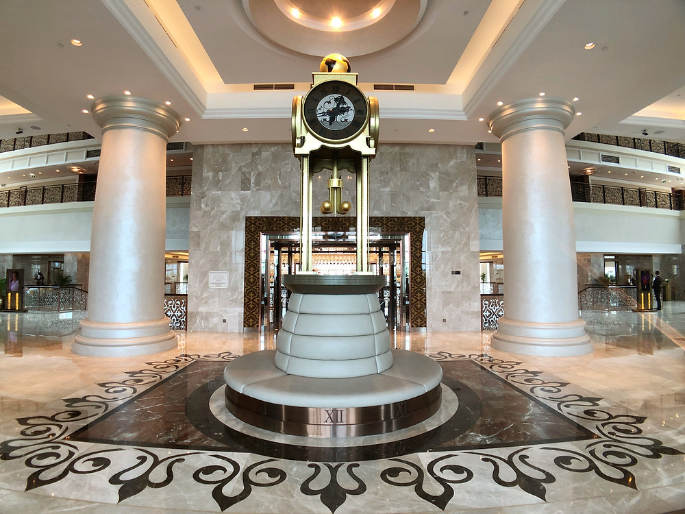 The famous Waldorf Astoria clock located at the lobby of the hotel