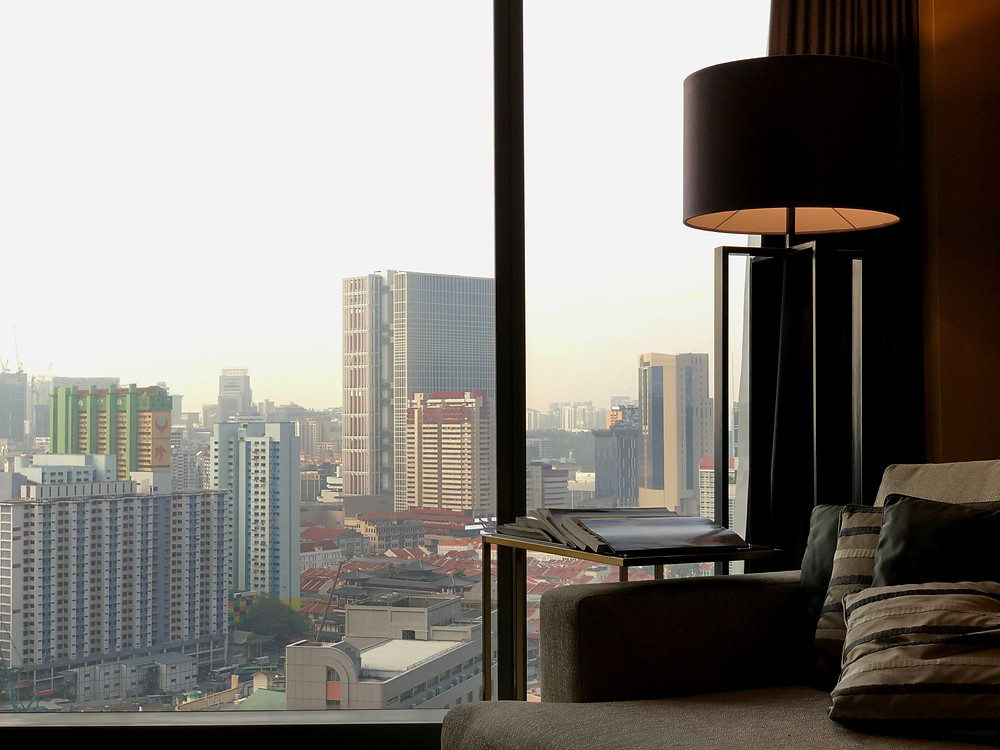 Prestige Suite - Looking out towards Chinatown as the sun sets