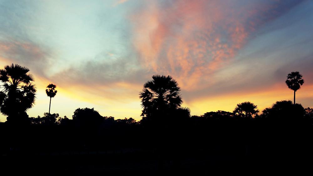 Amazing sunrise at Angkor Wat