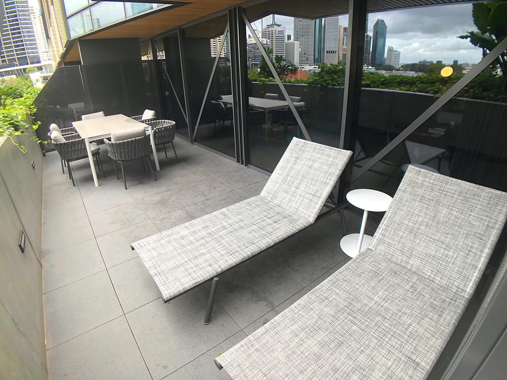 The Fantauzzo Brisbane Deluxe Riverview Balcony Room - View of the balcony