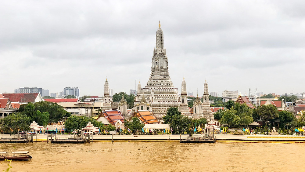 View of Wat Arun from across Chao Phraya River