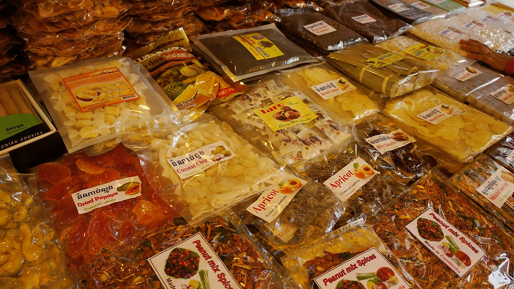 Food products for sale at Psar Chas