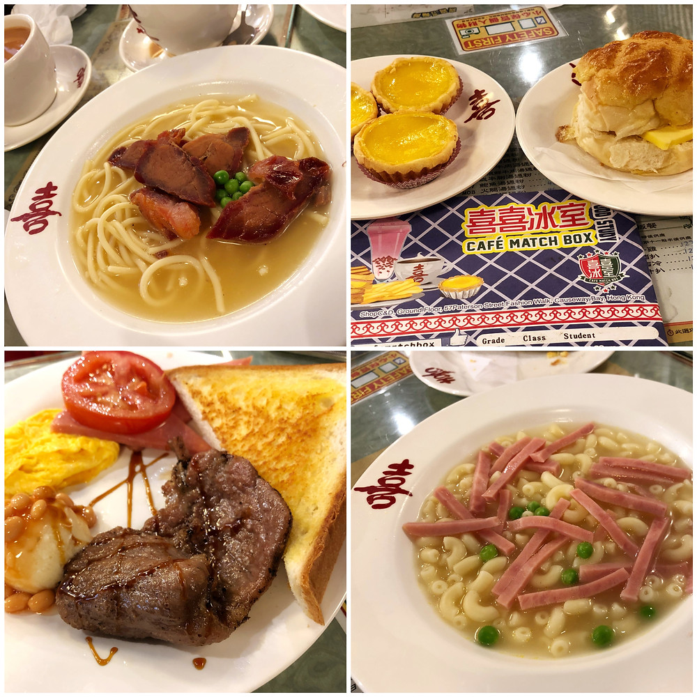 The different food options available at Café Match Box