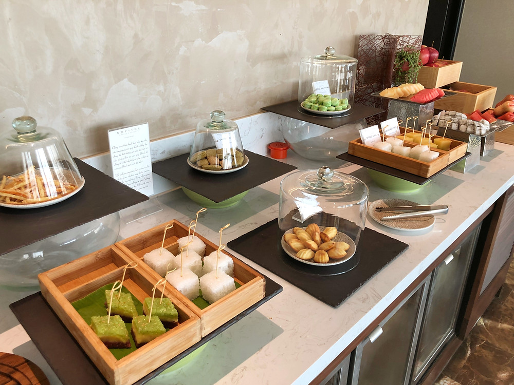 Club Sofitel Lounge - Afternoon tea service means local delicacies are on offer