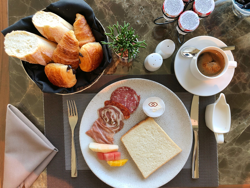 Club Sofitel Lounge - A great way to start the day with some cold cuts and freshly-made pastries