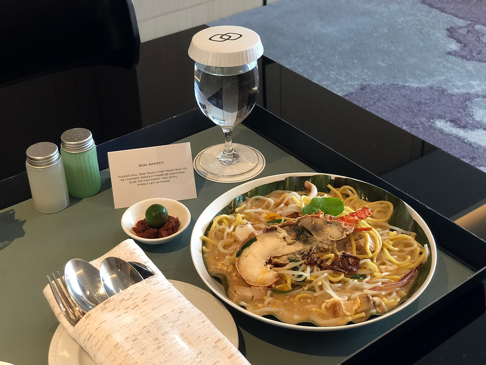 Sofitel Singapore City Centre Room Service - One of the tastiest Hokkien Mee we have eaten (no exaggeration)