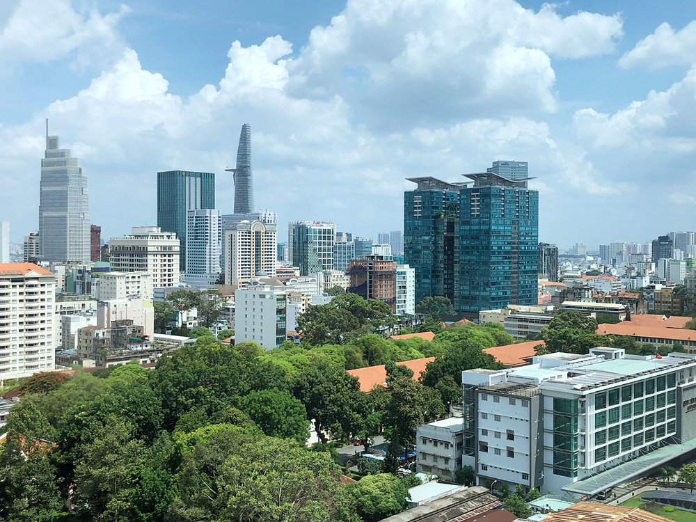 View of Ho Chi Minh City and Bitexco Financial Tower from Sofitel Saigon Plaza