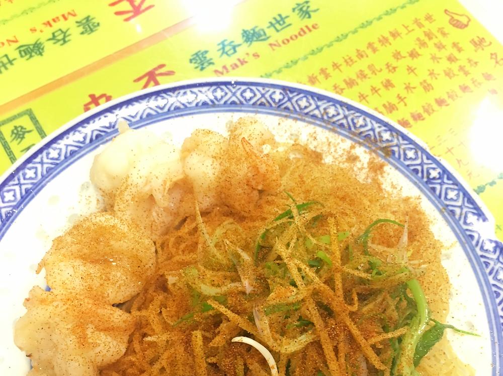 The famous shrimp roe noodles at Mak's Noodle