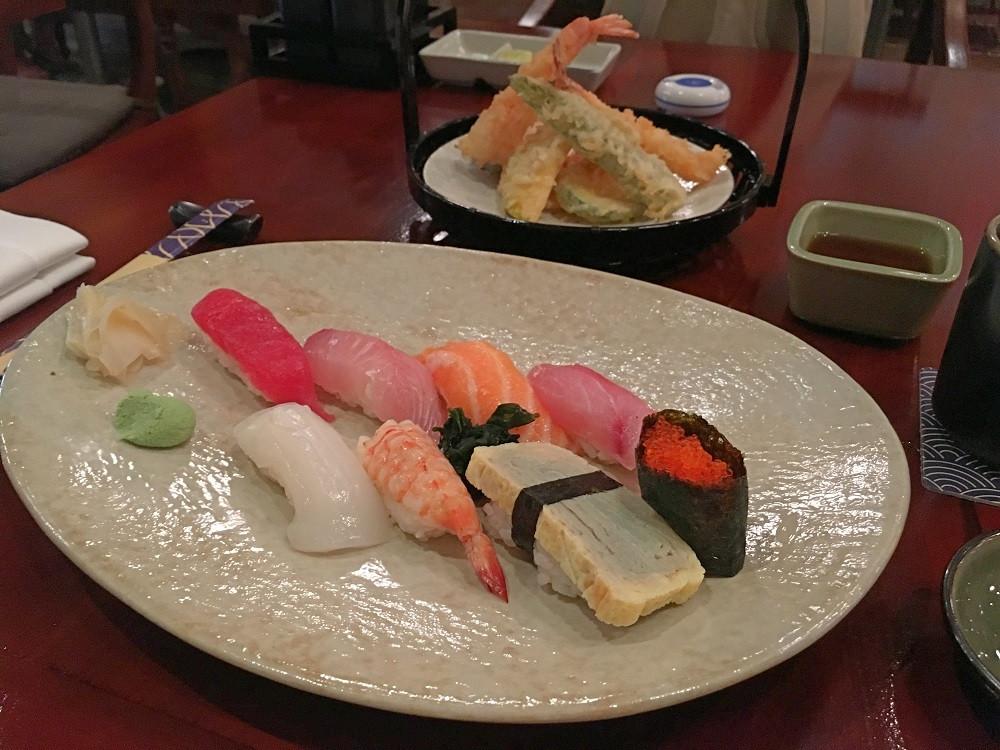 Fresh sushi at Ikoi Tei