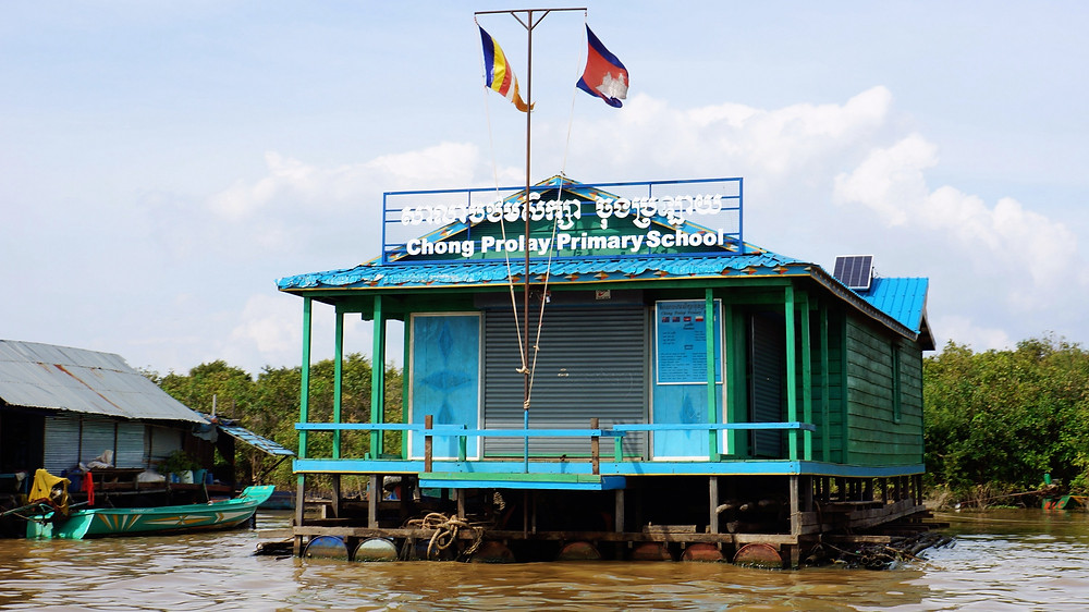 A primary school at the Vietnamese Floating Village