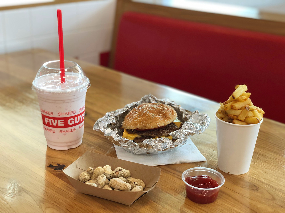 A simple yet awesome burger meal at Five Guys