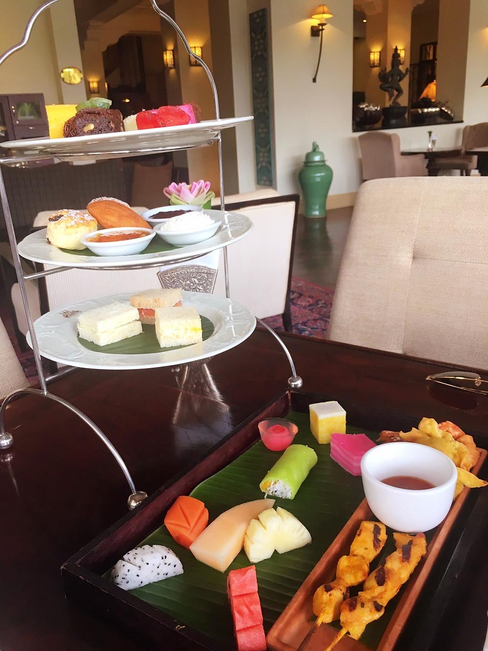 Raffles Grand Hotel D'Angkor afternoon tea set