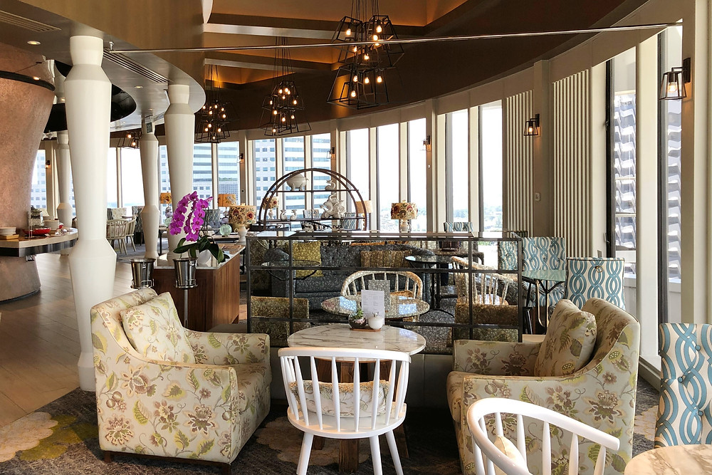 Pacific Club Lounge - Admire the beautiful furniture and decor while you enjoy a cuppa!
