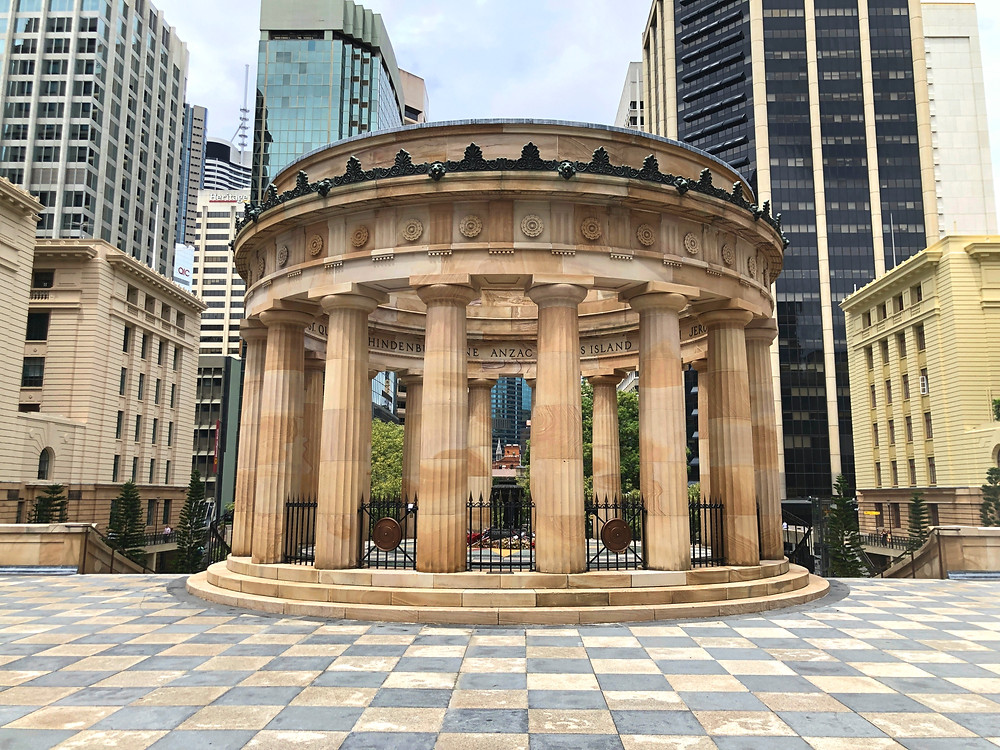 The Shrine of Remembrance at ANZAC Square